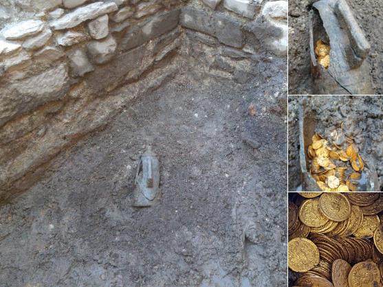 Moedas de ouro do Império Romano são encontradas em antigo cinema na Itália
