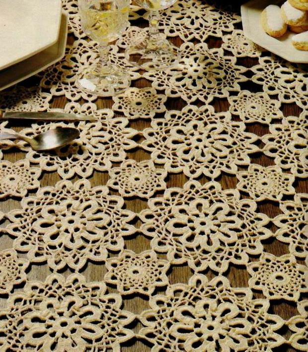 Crochet Tablecloth Pattern / Diagram Circle Motif