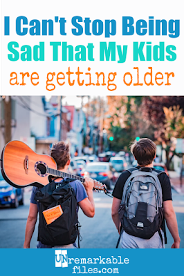 No one prepared me for the hardest part of motherhood: my kids growing up. I never thought my children getting older would make me sad, but it does. #kids #childhood #motherhood #sad #thoughts #parenting #unremarkablefiles