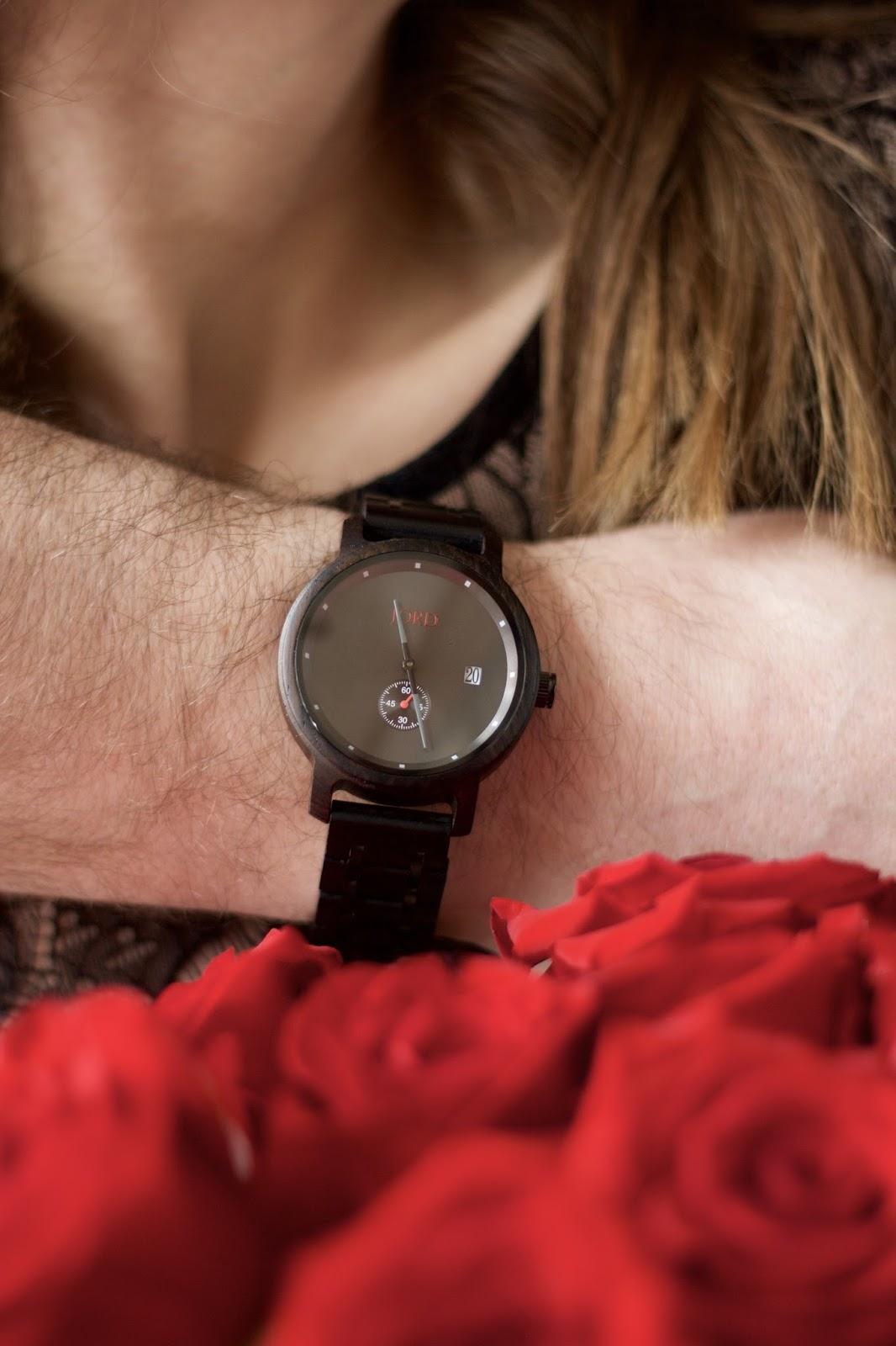Men's Jord Watch Hyde Series Ebony & Iron Wood Watch