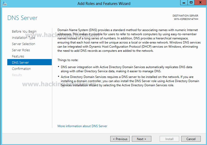 Setup DNS Penetration Testing Lab on Windows Server 2012