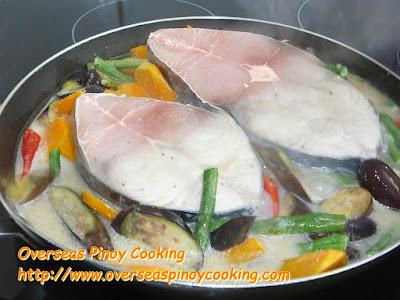 Ginataang Tanguige at Gulay - Cooking Procedure