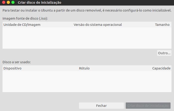 criar disco de inicializacao para o ubuntu