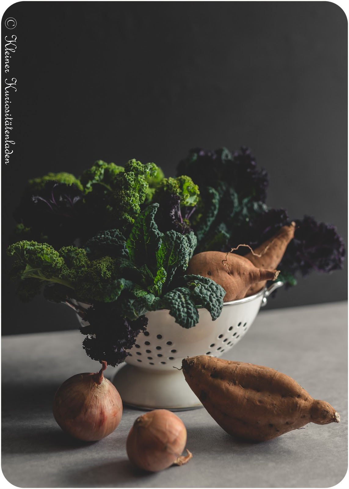 Zutaten Süßkartoffel-Grünkohl-Bratlinge mit Joghurtdip