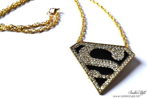Superman Necklace by Beauty unleashed