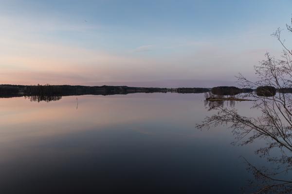 auringonlasku, kevät taustakuva ilta horisontti järvi luonto heijastus taivas vesi