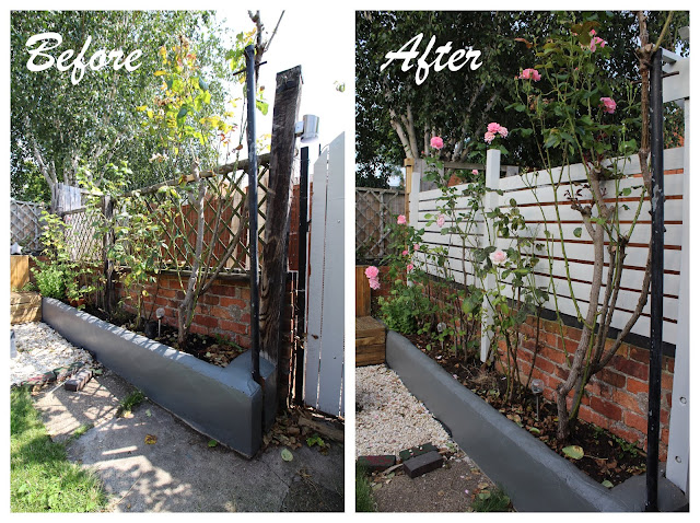 before and after slat fencing