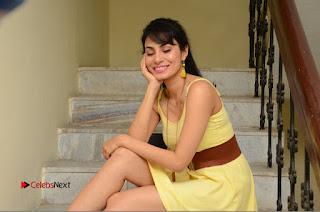 Actress Manisha Kelkar Latest Picture Gallery in Yellow Short Dress  0286.JPG