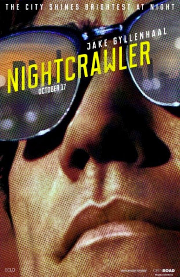 Jake Gyllenhaal wearing Clubmaster Sunglasses in Nightcrawler Movie Poster