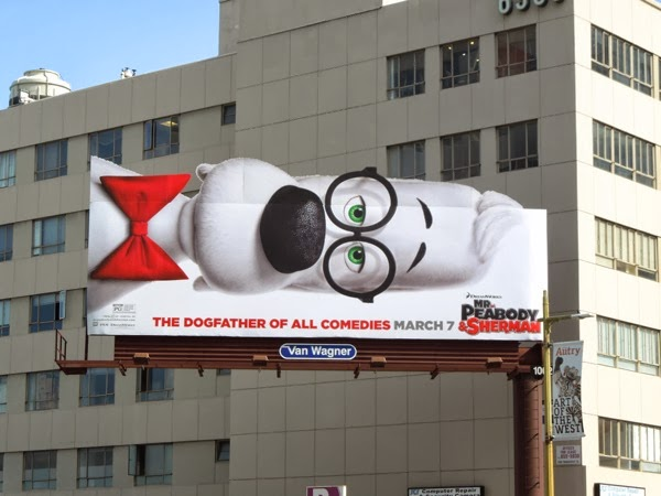 Mr Peabody & Sherman movie special extension billboard