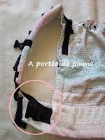 portage préformé porte-bébé réglages dossier bretelles tablier bébé bambin