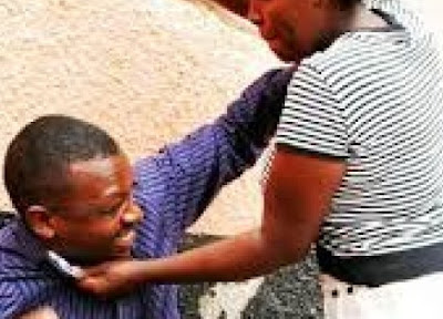 wife beat husband agege lagos