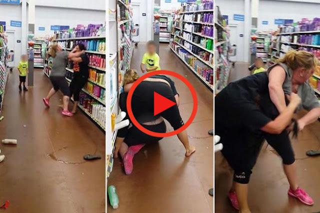 Απίστευτος καυγάς γυναικών σε σούπερ μάρκετ. Ο 6χρονος γιος της μιας ρίχνει μπουνιά!