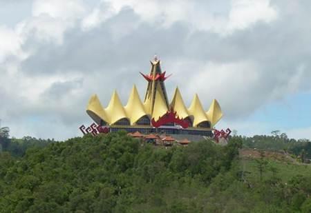 obyek wisata menara siger di lampung