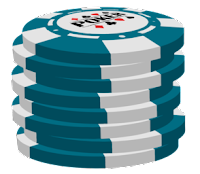 light blue poker chip stack