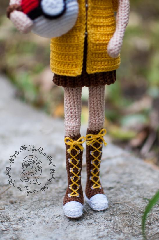 Amigurumi for Beginners AMIGURUMI doll LEGS for MERLINA Addams 2nd ... | 821x546