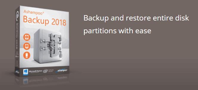 يتيح لك Ashampoo Backup  النسخ الاحتياطي واستعادة أقسام القرص بالكامل بسهولة