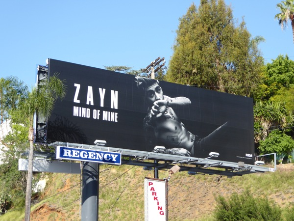 Zayn Mind of Mine album billboard