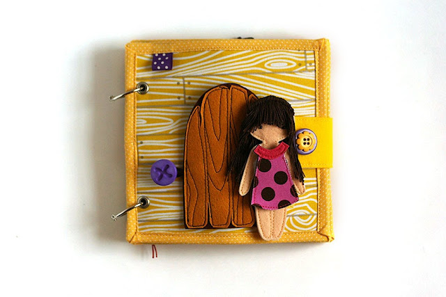 Little dollhouse for Aya, handmade quiet book by TomToy
