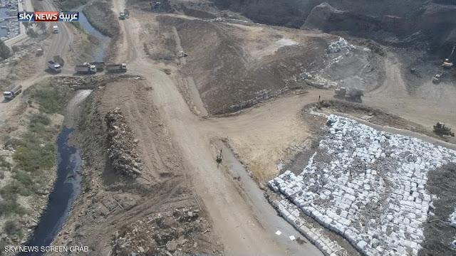 تصوير جوى لمكبات النفايات فى لبنان توضح اهمال السلطات