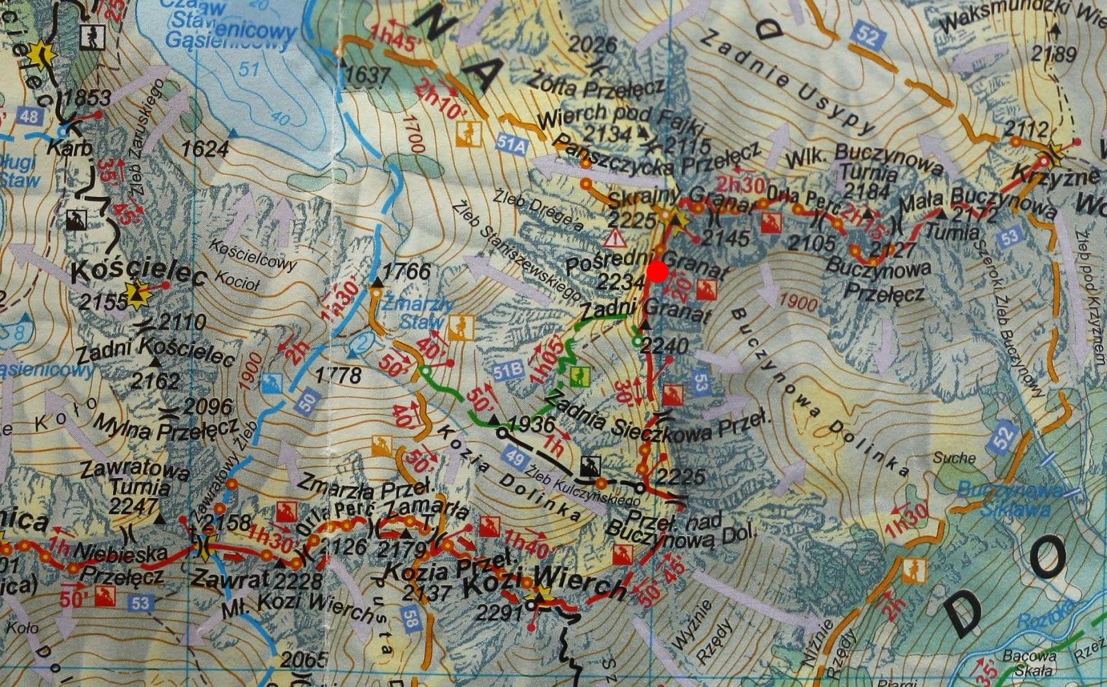 Pośredni Granat na mapie