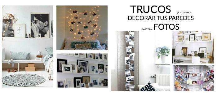 decoramos las paredes con fotos de diferentes formas