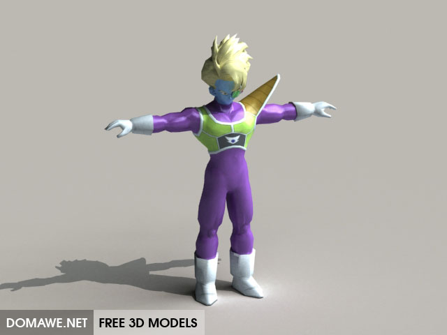 DOMAWE net: Captain Salza 3D Model Free - Dragon Ball Character