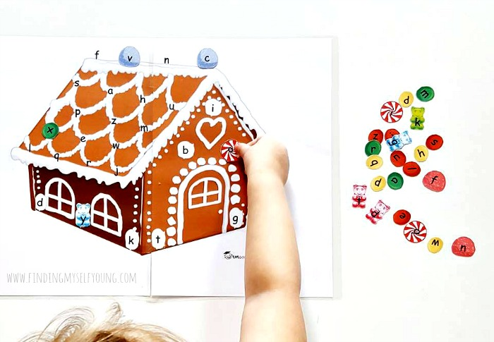 gingerbread house letter matching printable