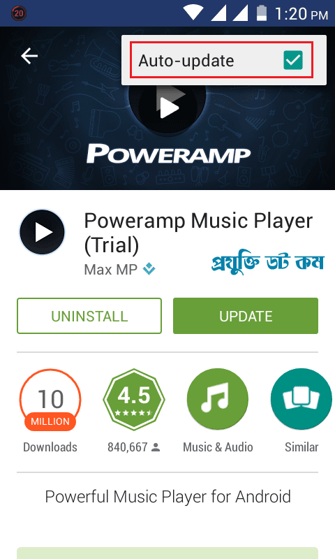 Play Store Auto Update Off