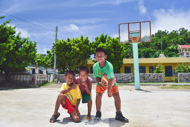 Beautiful people in Batanes Basco near the basketball field