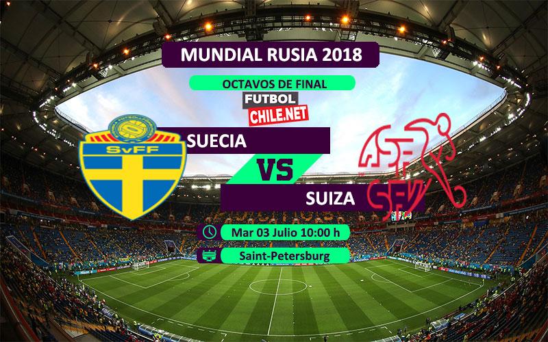 Suecia vs Suiza por los octavos de final del Mundial Rusia 2018