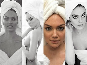 photoset called Towel Series: Kate Moss and other models in the lens of Mario Testino