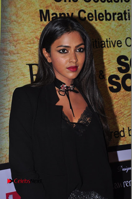 Actress Amala Paul Stills in Black Dress at South Scope Lifestyle Awards 2016 Red Carpet  0001.JPG
