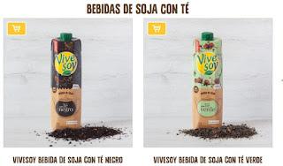 Podemos probar gratis nuevos Vivesoy Soja con té negro y té verde