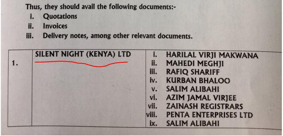 Mattress Company Silent Night Kenya Was Paid In Marakwet Dam Scam