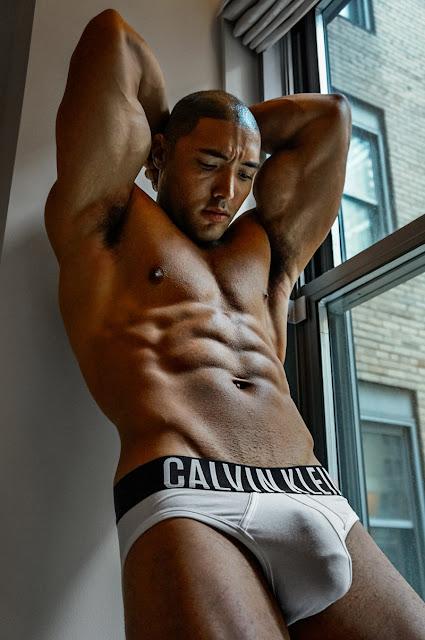 JB Fackelmayer by Mattheus Lian Calvin Klein Underwear Bulge Male Fitness Model Black Mixed