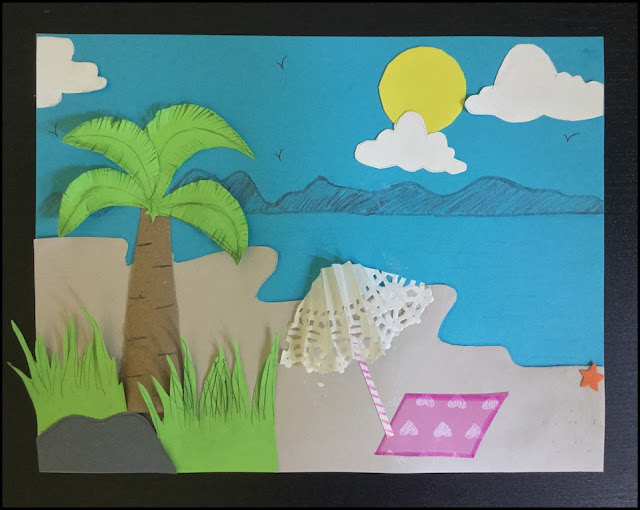 craft for kids, kids craft, kid craft, craft, crafts, crafty mom, paper craft, beach, easy craft, summer craft, preschool craft, diy, toddler fun, kids activity, kids art, simple craft, scenery craft, landscape craft