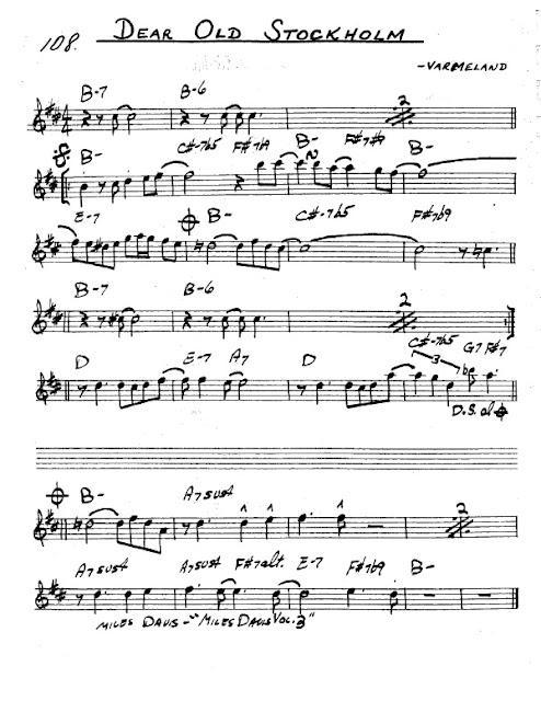 Partitura Saxofón Varmeland