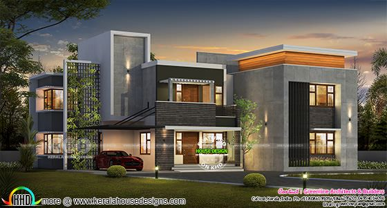 Ultra modern 5 bedroom contemporary house plan