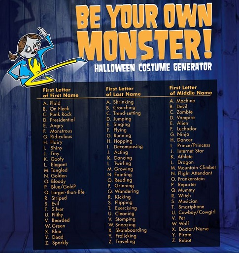 goodwill costume generator by initials