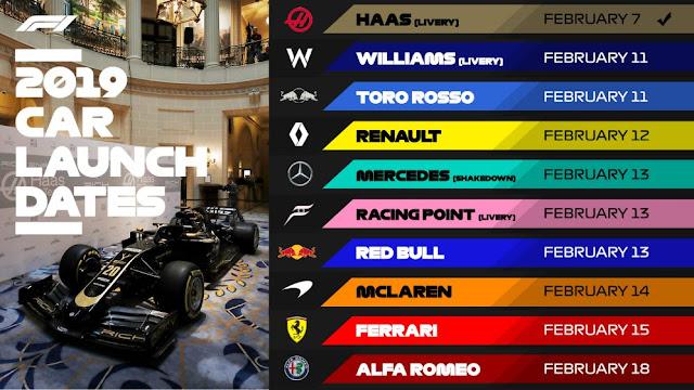 Formula 1 car launches