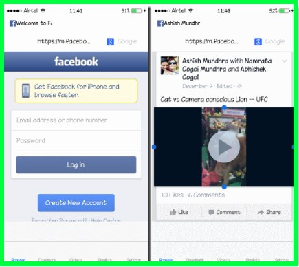 Download Facebook Video iPhone