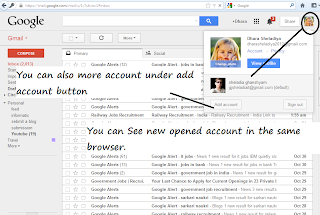 See - New Gmail Account under Old account