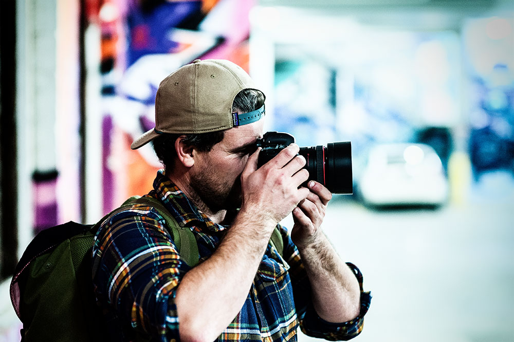 Timmy doing what he loves behind the camera by Tom Cunningham
