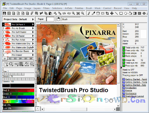Pixarra TwistedBrush Pro Studio Full Version