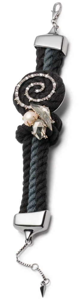 Alexis Bittar Stone Cluster Coil Cord Bracelet