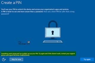Cara memperbaiki Windows Hello Error saat membuat PIN di Windows 10