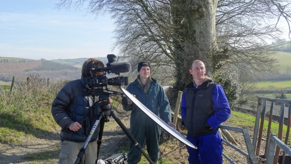 Simon Vacher filming Tom Hynes & Andrew Mather by the new pond - Photo copyright Butterfly Films (All rights reserved)