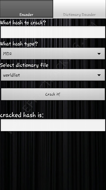 Hash Decrypt Dictionary Decoder