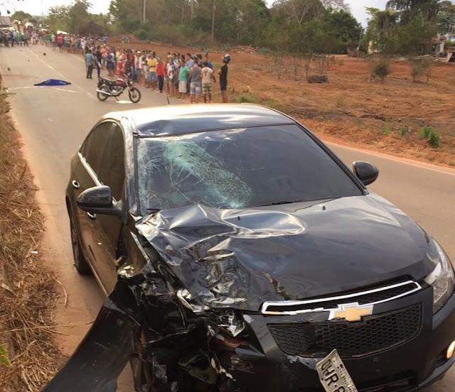 Motociclista morre em colisão com carro em Nova Brasilândia